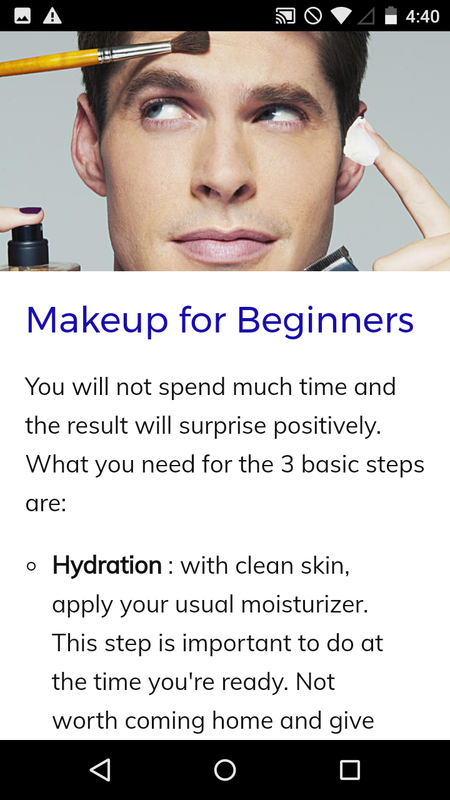Makeup for Men The App Store android Code Lads