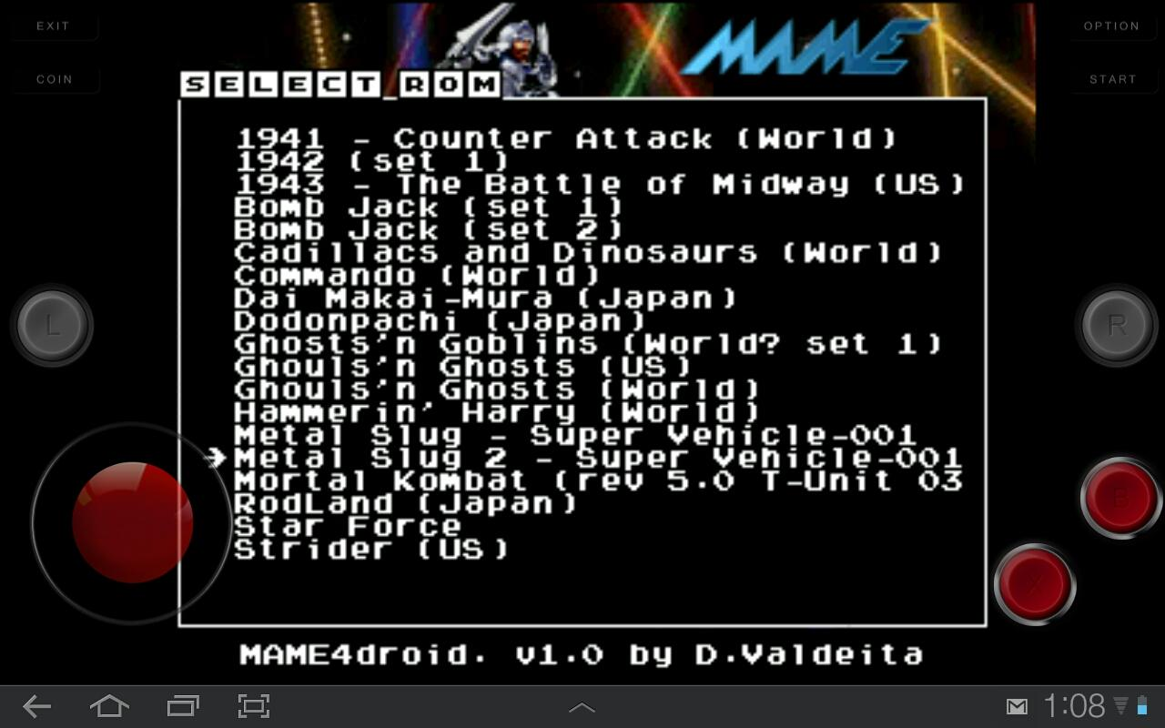 Screenshot MAME4droid (0.37b5) APK