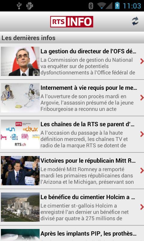 Screenshot RTSinfo (Android 2.x) APK