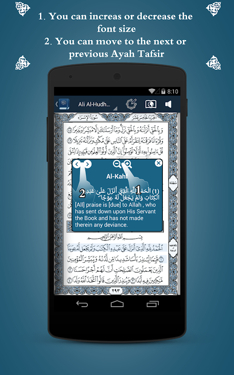 Screenshot Holy Quran with Tafsir APK