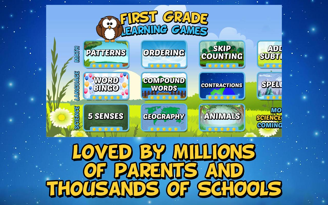 Screenshot First Grade Learning Games APK