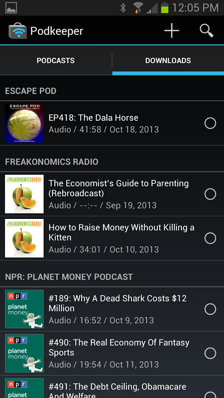 Podkeeper Free podcast player The App Store android Code Lads