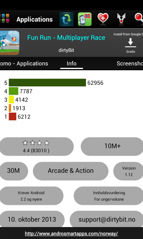 Screenshot Norway Android APK