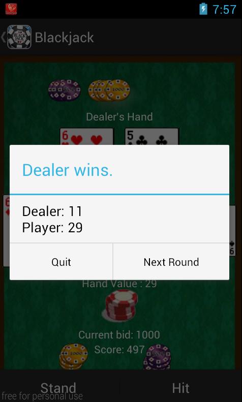 Screenshot BlackJack games free offline APK