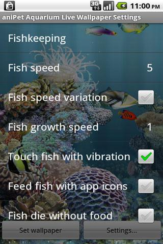 aniPet Aquarium LiveWallpaper The App Store android Code Lads
