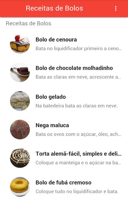 Receitas De Bolos The App Store android Code Lads