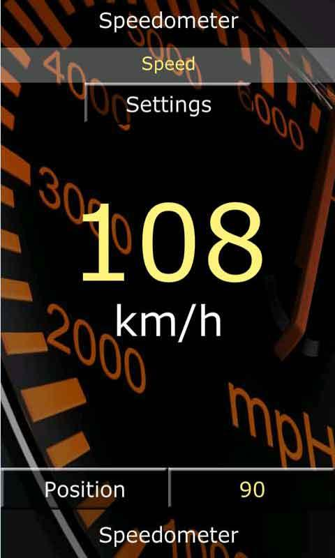 Screenshot Android Speedometer APK