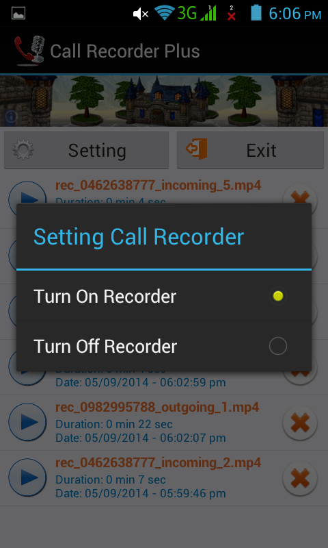 Screenshot CALL RECORDER ANDROID FREE NEW APK