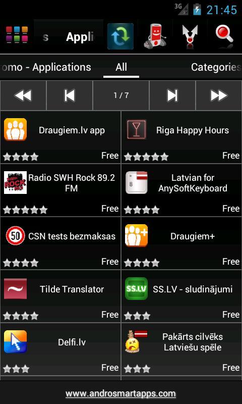 Screenshot Android Latvia APK