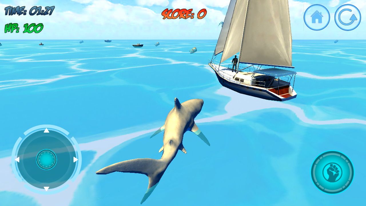 Screenshot Shark Attack 3D Simulator APK