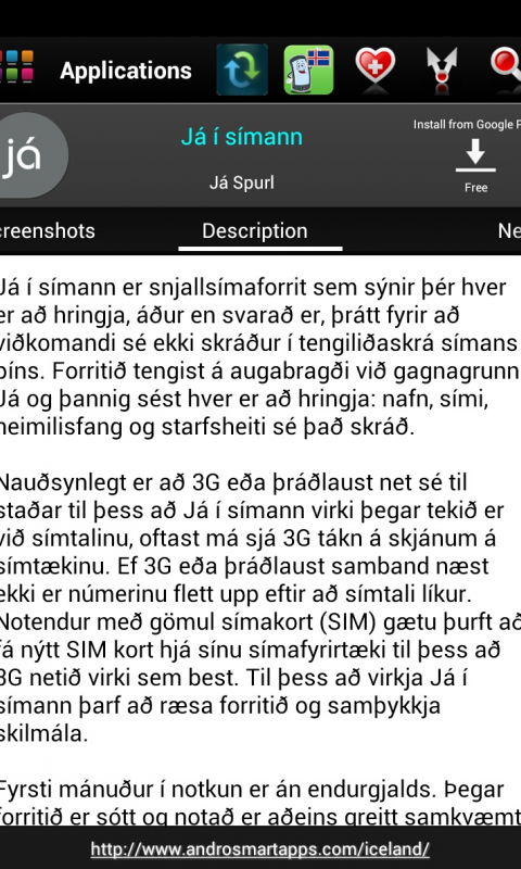 Screenshot Iceland Android APK