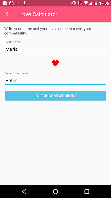 Love Meter Calculator The App Store android Code Lads