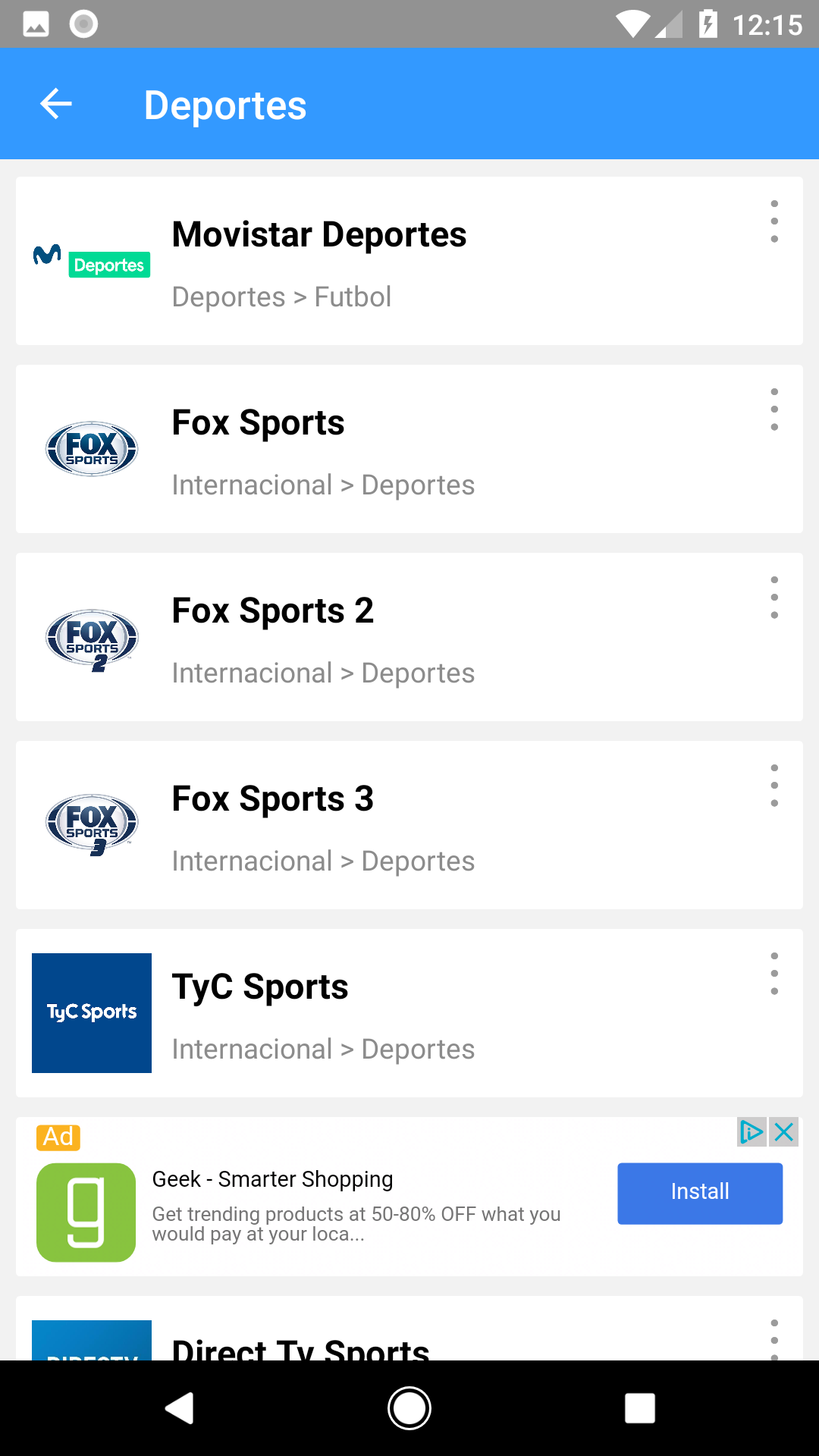 Emedia - Tv para todos! The App Store android Code Lads