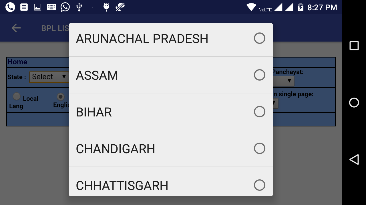 2018 BPL List - ALL INDIA Download | The App Store