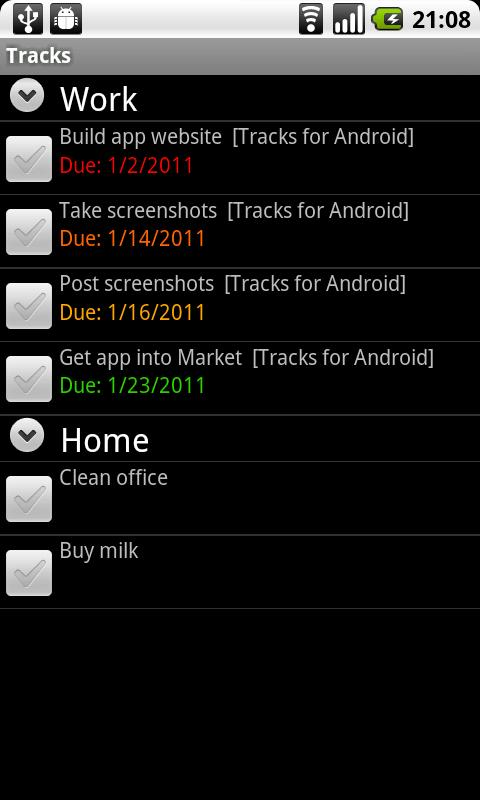 Screenshot Tracks for Android APK