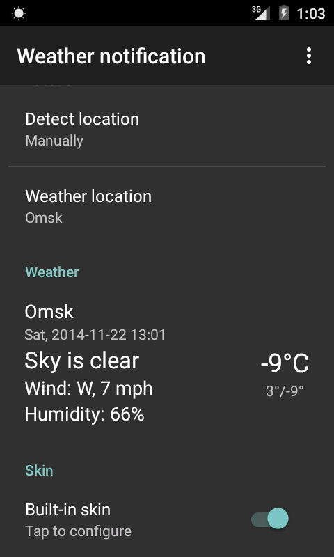 Screenshot Weather notification APK