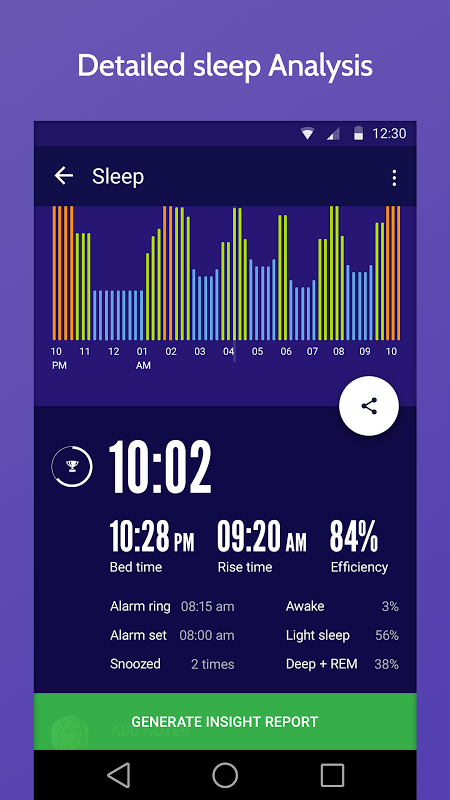 Screenshot Sleep Time : Sleep Cycle Smart Alarm Clock Tracker APK