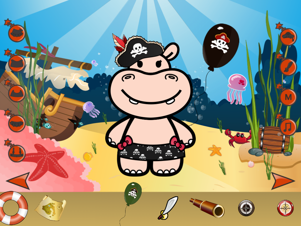 Screenshot Hippo Dress Up Game APK