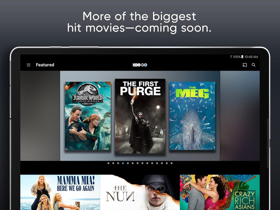Screenshot HBO GO Android TV APK