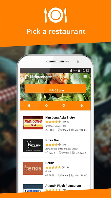 Lieferando.de - Order Food The App Store android Code Lads