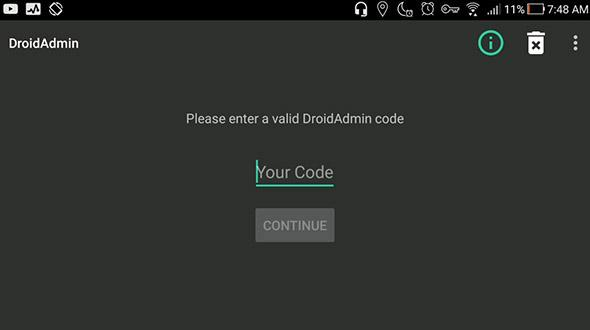 Screenshot DroidAdmin for Android - Advice APK