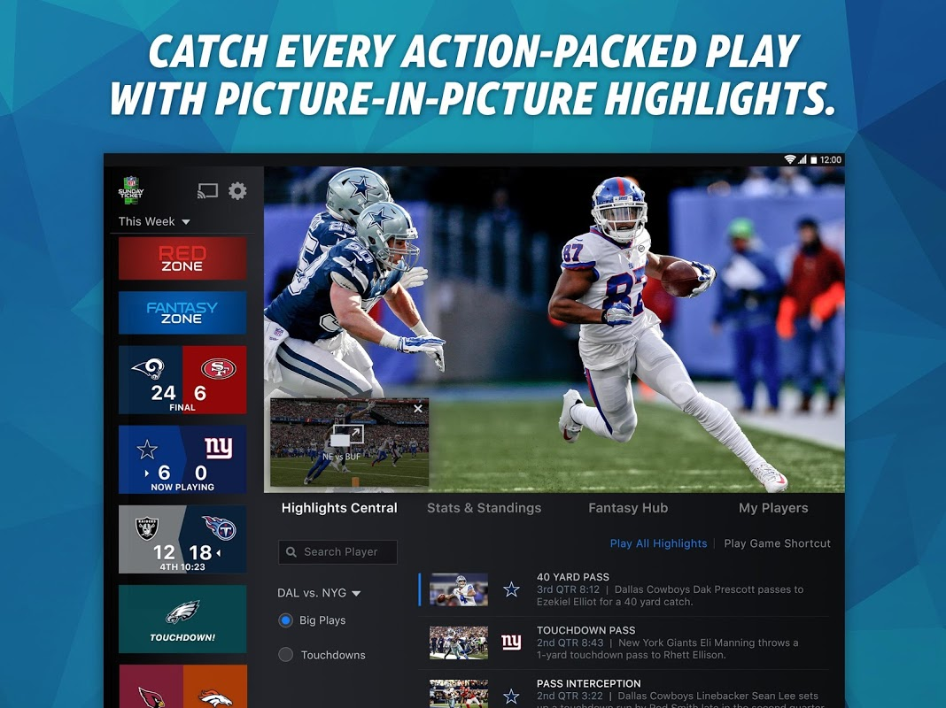 NFL Sunday Ticket for Tablets & TV The App Store android Code Lads