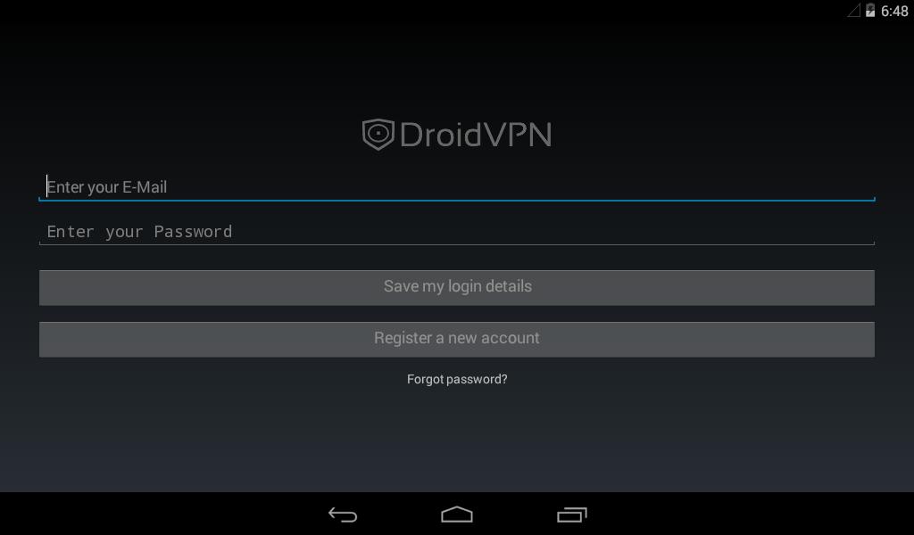 Screenshot DroidVPN - Android VPN APK