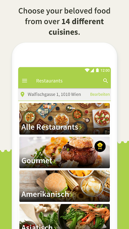 Mjam.at - Order food online The App Store android Code Lads