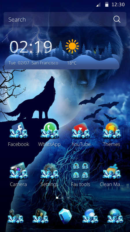 Wild Wolf Theme The App Store android Code Lads