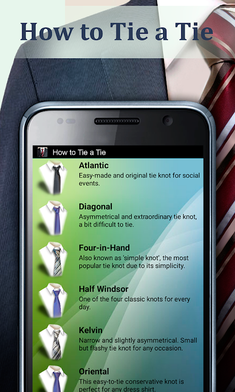 How to Tie a Tie The App Store