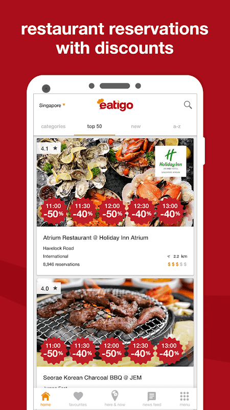 eatigo – discounted restaurant reservations The App Store android Code Lads