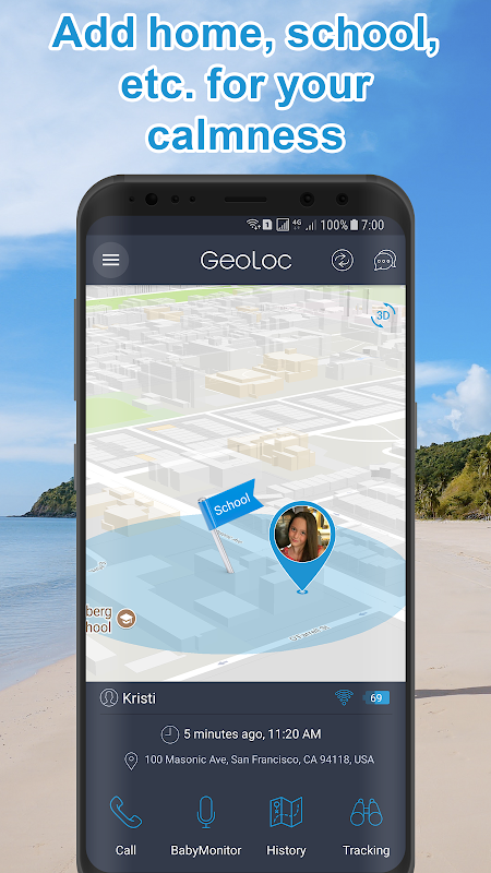 Screenshot Family GPS Tracker and Chat + Baby Monitor Online APK