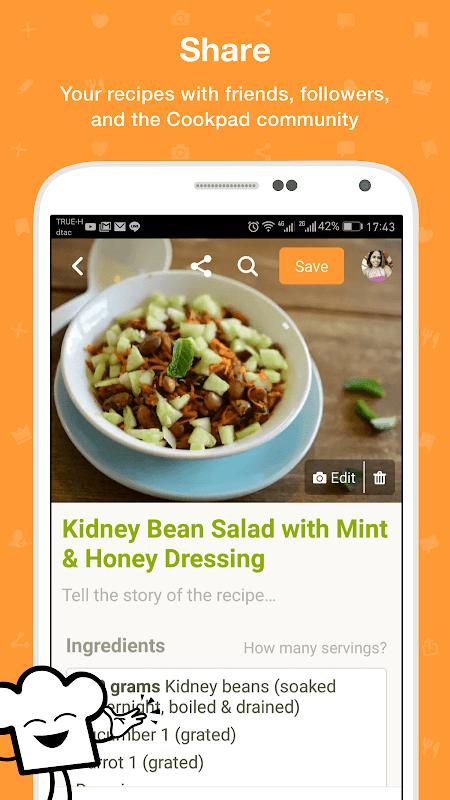 Screenshot Cookpad APK