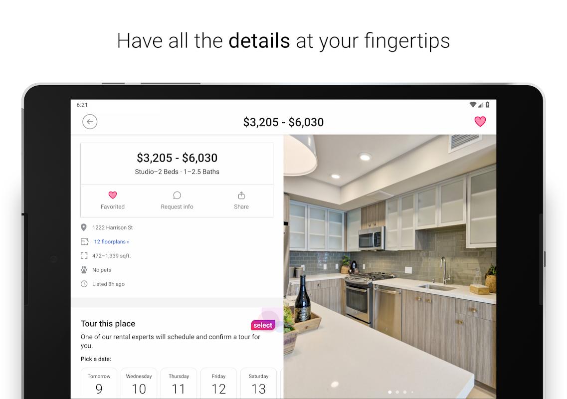 Screenshot Zumper - Apartment Rental Finder APK