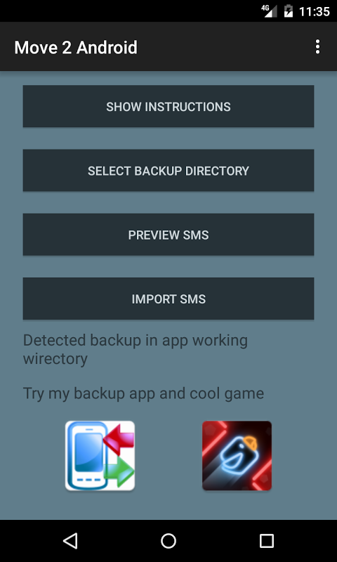 Screenshot Move to Android APK