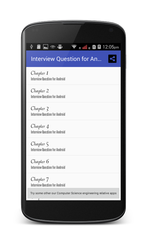Screenshot Interview Question for Android APK