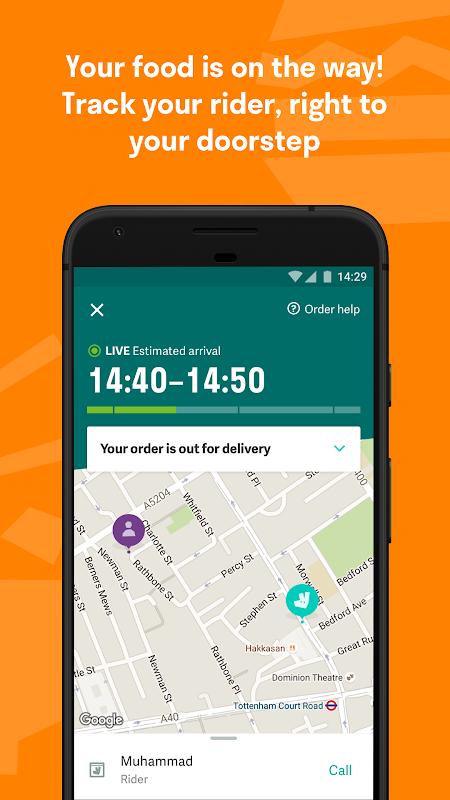 Screenshot Deliveroo: Food Delivery APK