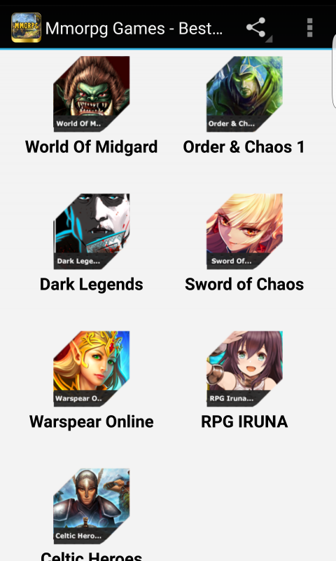 Screenshot Mmorpg Games - Best Of Android APK