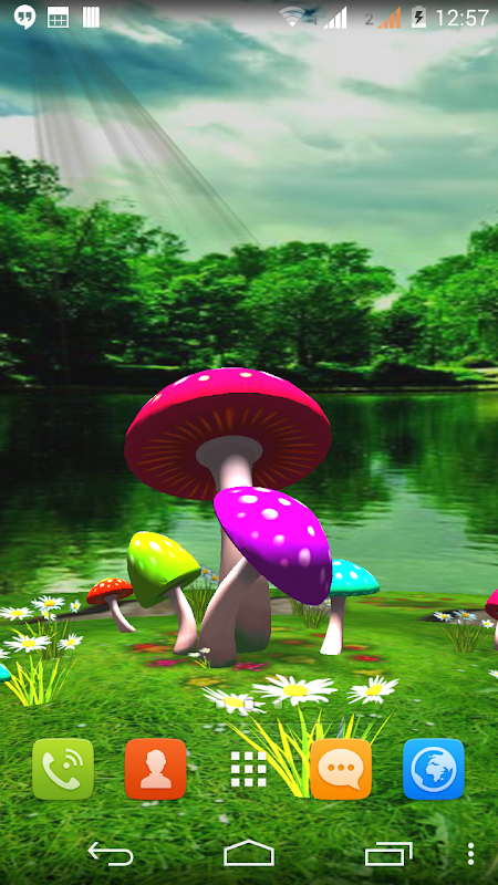 3D Mushroom Live Wallpaper New The App Store android Code Lads