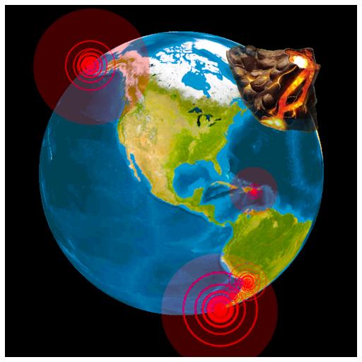 Earthquake Map: 3D Earth Globe