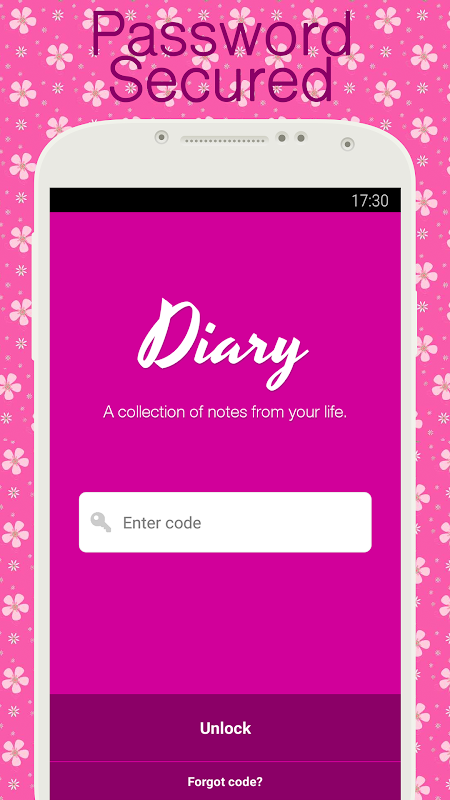 Diary with lock The App Store