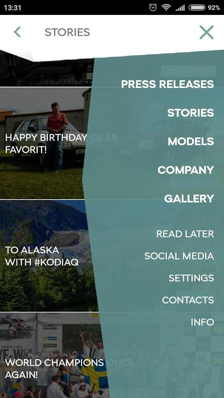 Screenshot ŠKODA Media Services APK