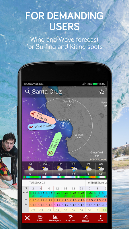 Screenshot Windy: wind, waves and hurricanes forecast APK