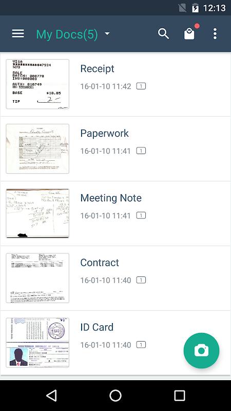 Screenshot CamScanner - Phone PDF Creator APK