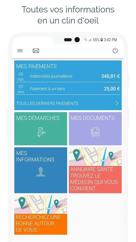 Screenshot ameli, l'Assurance Maladie APK
