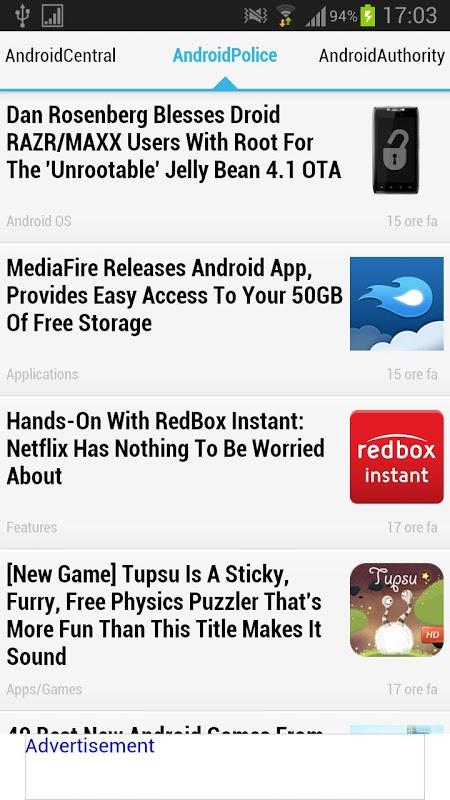 Screenshot Android News Beta APK