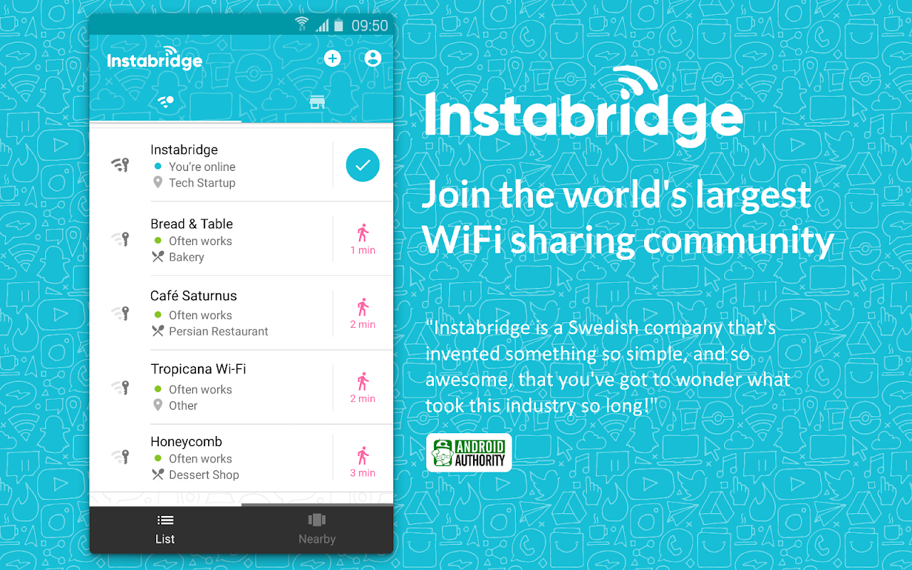 Instabridge - Free WiFi The App Store android Code Lads