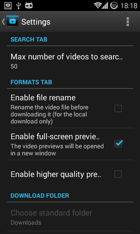 Screenshot YouTube Downloader for Android APK