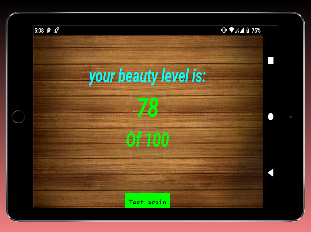Test Your beauty level The App Store android Code Lads