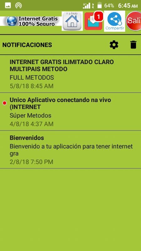 Screenshot Gratis Internet Android vpn APK